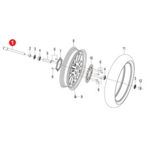 FRONT WHEEL AXLE M20×1.5×205 Price Specification