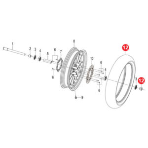 FRONT WHEEL LEFT COLLAR Price Specification