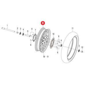 FRONT WHEEL ASSY.GREY HT Price Specification
